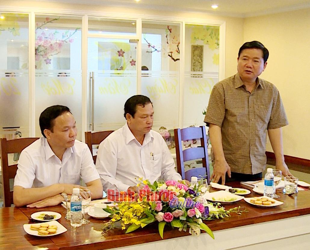 Bí thư Thành ủy TPHCM Đinh La Thăng thăm doanh nghiệp đầu tư tại Bình Phước